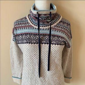 Eddie Bauer fair isle mock neck sweater #1374